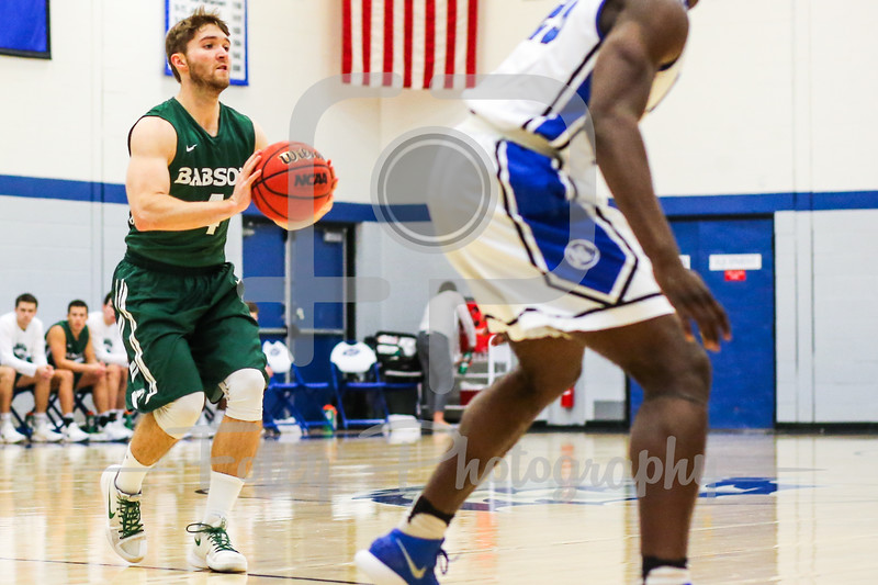 Babson College Beavers guard Chris Lowry (4)