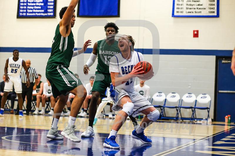 Becker College Hawks forward Daniel Flaherty Jr. (15)