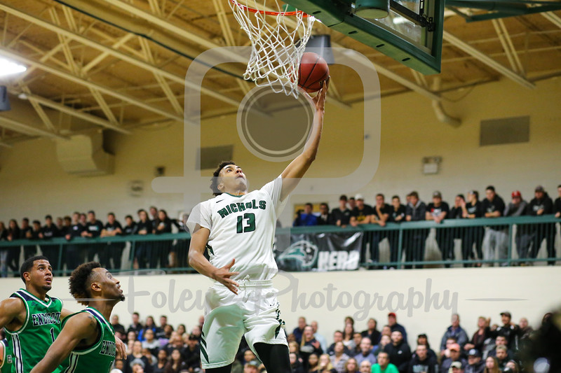 Nichols College Bison forward Jerome Cunningham (13)