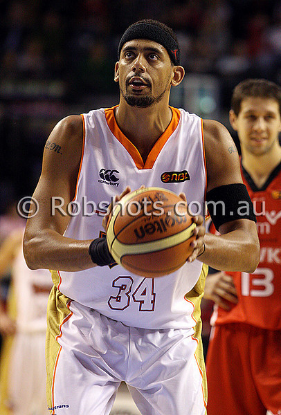 Rich Melzer - Cairns - Images from the 2009/10 NBL Round 3 match between the Wollongong Hawks and Cairns Taipans played at Win Entertainment Centre on Saturday the 10th of October 2009. The match was won by Wollongong 71-59. (PHOTO: ROB SHEELEY - SMP IMAGES) These images are intended for editorial use only (e.g. news or commentary print or electronic). Any commercial or promotional use requires additional clearance.