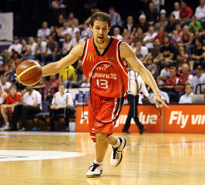 Rhys Martin - Wollongong Hawks - images from the NBL Round 15 clash between the Wollongong Hawks and New Zealand Breakers played at the Wollongong Entertainment Centre on Wednesday the 6th of January 2010, the match was won by Wollongong 83-78 (PHOTO: ROB SHEELEY - SMP IMAGES) These images are intended for editorial use only (e.g. news or commentary print or electronic). Any commercial or promotional use requires additional clearance.