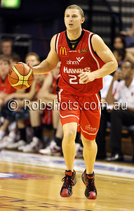 Tim Coenraad - Wollongong Hawks - Images from the 2009/10 NBL Round 10 match between the Wollongong Hawks and Adelaide 36er's played at Win Entertainment Centre on Wednesday the 25th of November 2009. The match was won by Adelaide 82-59 . (PHOTO: ROB SHEELEY - SMP IMAGES) These images are intended for editorial use only (e.g. news or commentary print or electronic). Any commercial or promotional use requires additional clearance.