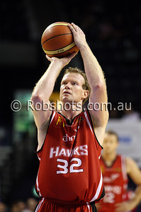 Mat Campbell - Wollongong Hawks - Images from the 2009/10 NBL Round 10 match between the Wollongong Hawks and Adelaide 36er's played at Win Entertainment Centre on Wednesday the 25th of November 2009. The match was won by Adelaide 82-59 . (PHOTO: ROB SHEELEY - SMP IMAGES) These images are intended for editorial use only (e.g. news or commentary print or electronic). Any commercial or promotional use requires additional clearance.
