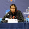 Head coach Joni Taylor speaks with media before an opening round game against Indiana in the NCAA Tournament. (March 18,  2016) Credit: Marcus Snowden