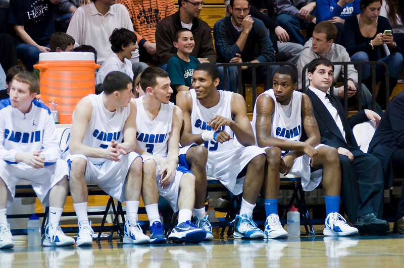 Cabrini College bench seems satisfied with their effort