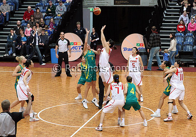 Opals Vs China - AIS Arena 11th August 2009 - Tip Off