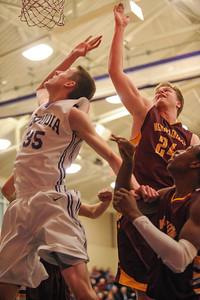 Menlo-Atherton High Varsity Boy's  Basketball vs. Sequoia High, 2014-01-31