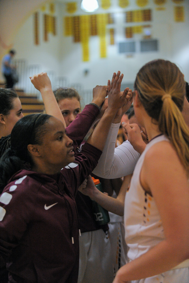 Menlo-Atherton Girl's Basketball victorious over St. Francis,  February 28, 2017.