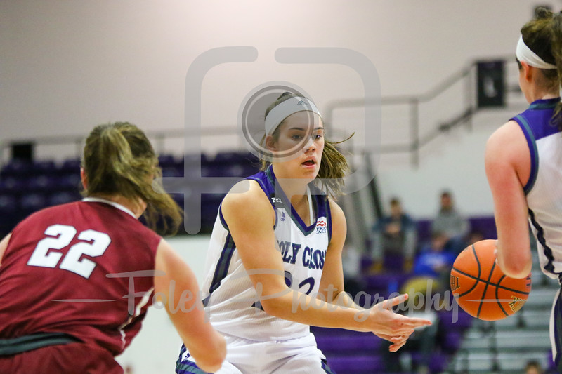 Holy Cross Crusaders forward Maggie Locke (23)