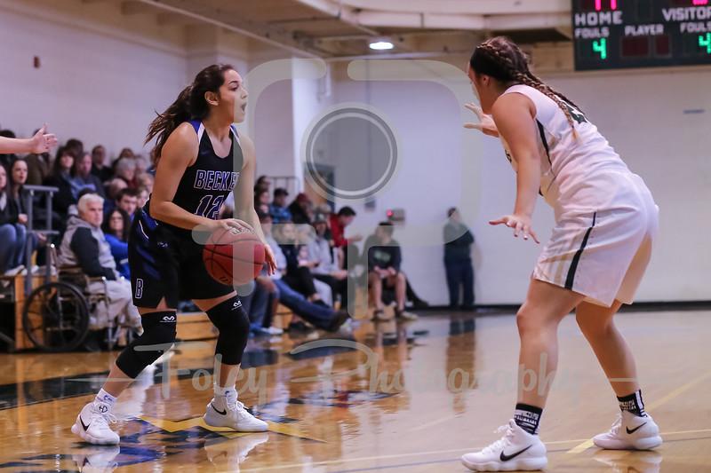 Becker College Hawks guard Jazlyn Contreras (12)