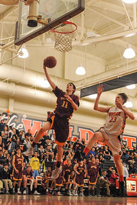 Menlo-Atherton High Varsity Boy's Basketball vs.  Woodside High, 2014-02-07