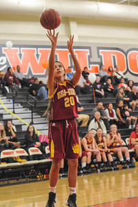 Menlo-Atherton High Varsity Girl's Basketball vs.  Woodside High, 2014-02-07
