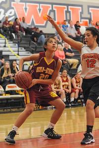 Woodside Girl's Varsity Basketball vs. M-A 2014-02-13
