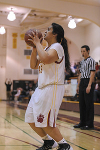 Menlo-Atherton High Varsity Girl's Basketball vs.Woodside High, 2014-01-24
