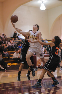 Menlo-Atherton High Varsity Girl's Basketball vs.Woodside High, 2014-01-24
