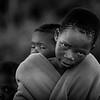 Black and White basotho kids portrait