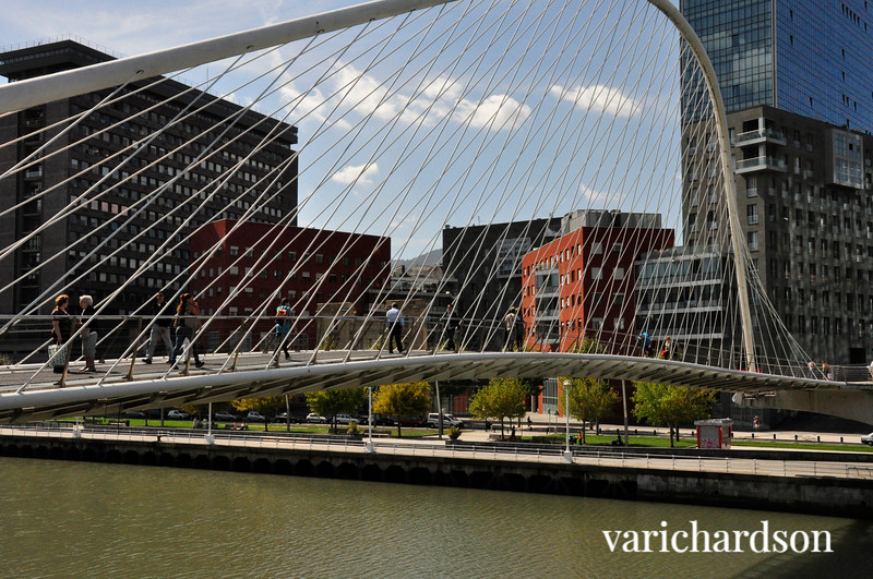 Foot bridge over the Nervion River, Bilbao