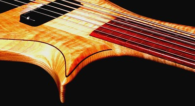 IMG_3034_string__reflec BLDesign.us: 011 Barbary 6-string set-neck prototype. Photos: Marc Pagano. Slideshow Music: Nick Rosenthal and Beau Leopard.  All Content © 2005-2007 Beau Leopard Design .:. Custom Bass Guitars