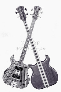219.1836 Alembic Bass Guitar Black and White