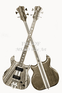218.1836 Alembic Bass Guitar Black and White