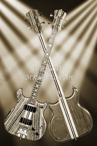 204.1836 Alembic Bass Guitar Black and White