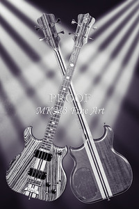 205.1836 Alembic Bass Guitar Black and White