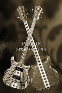 220.1836 Alembic Bass Guitar Black and White