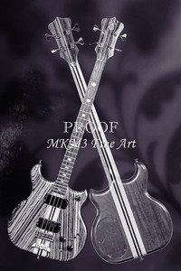 221.1836 Alembic Bass Guitar Black and White