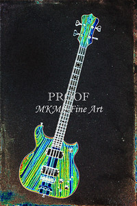 419.1836 Alembic Bass Guitar Drawing