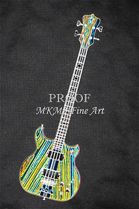 418.1836 Alembic Bass Guitar Drawing