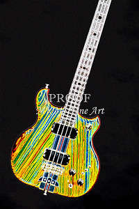 420.1836 Alembic Bass Guitar Drawing