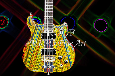 410.1836 Alembic Bass Guitar Drawing