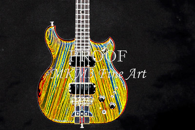 421.1836 Alembic Bass Guitar Drawing