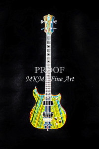 416.1836 Alembic Bass Guitar Drawing