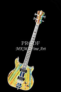 425.1836 Alembic Bass Guitar Drawing