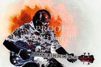 314.1836 Alembic Bass Guitar Watercolor