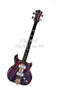 326.1836 Alembic Bass Guitar Watercolor