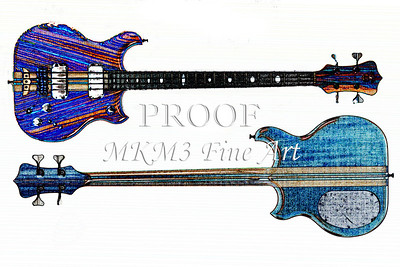 308.1836 Alembic Bass Guitar Watercolor