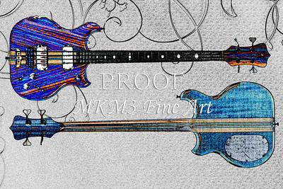 303.1836 Alembic Bass Guitar Watercolor