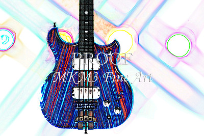 313.1836 Alembic Bass Guitar Watercolor
