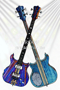 302.1836 Alembic Bass Guitar Watercolor