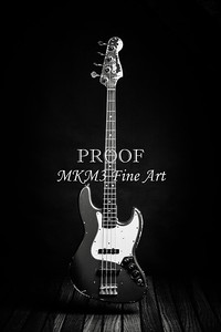 363.1834 Fender Red Jazz Bass Guitar in BW