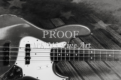 359.1834 Fender Red Jazz Bass Guitar in BW