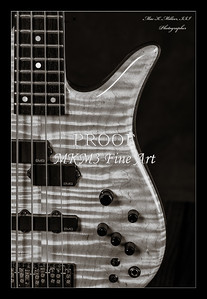 208.1954 Monarch Flame Maple 4 Bass in BW