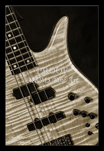 209.1954 Monarch Flame Maple 4 Bass in BW