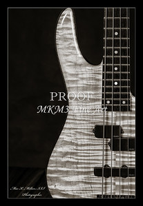 203.1954 Monarch Flame Maple 4 Bass in BW
