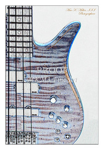 307.1954 Monarch Flame Maple 4 Bass in Watercolor