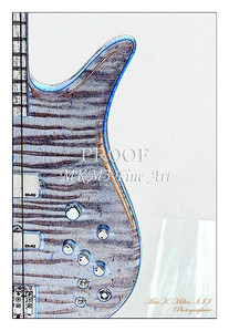 306.1954 Monarch Flame Maple 4 Bass in Watercolor