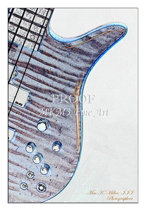 309.1954 Monarch Flame Maple 4 Bass in Watercolor