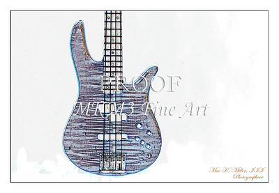 302.1954 Monarch Flame Maple 4 Bass in Watercolor